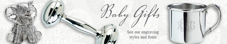 Silver and Pewter Baby Gifts
